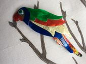 A Parrot Brooch in Bright Colours by Lea Stein of Paris